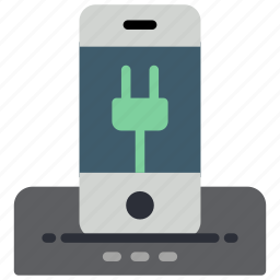 automation, charging, docked, home, iphone, phone, power icon
