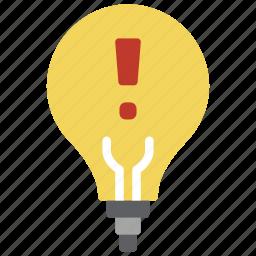 alert, automation, bulb, home, lighbulb icon