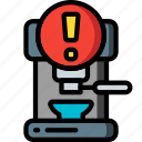 alert, automation, coffee, home, kitchen, machine, ultra icon