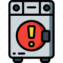 alert, automation, home, kitchen, machine, ultra, washing icon