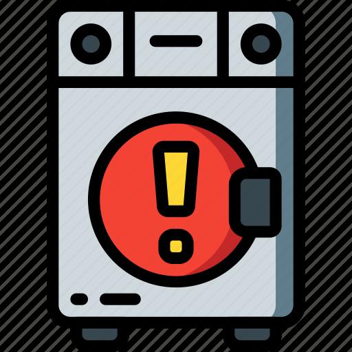 alert, automation, home, kitchen, machine, ultra, washing icon