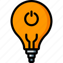 automation, home, light, lightbulb, off, ultra icon