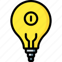 automation, home, light, lightbulb, on, ultra icon