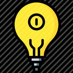 automation, home, light, lightbulb, on, ultra icon