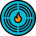 alarm, automation, fire, home, sensor, ultra icon
