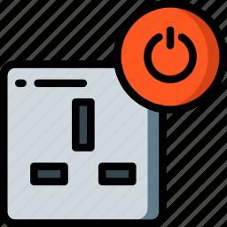 automation, home, off, plug, uk, ultra icon