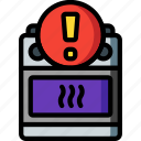 alert, automation, cooker, home, kitchen, oven, ultra icon