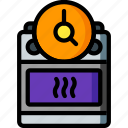 automation, cooker, home, kitchen, oven, timer, ultra icon
