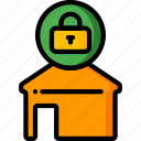 automation, home, locked, ultra icon