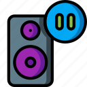 automation, home, music, pause, speaker, ultra icon