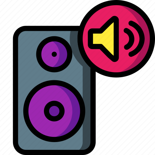 automation, home, music, remote, speaker, turn, up icon