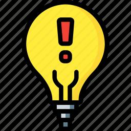 alert, automation, home, lighbulb, ultra icon