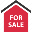 buying, estate, for, home, house, real, sale icon