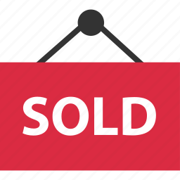buying, estate, home, real, sign, sold icon