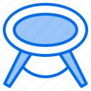appliance, design, furniture, home, room, round, table icon