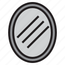bath, bathroom, mirror, shampoo, shower, toilet, water icon