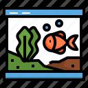 aquarium, decor, fish, plant, tank, water icon