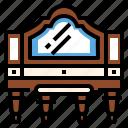 antique, dresser, makeup, organizer, table, vanity icon