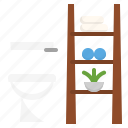 bathroom, decor, idea, organization, restroom, toilet icon