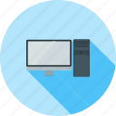 cloud, communication, computer, desktop, monitor, screen, technology icon