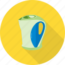 electric, hot, kettle, modern, power, tea, water icon