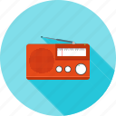 antenna, music, radio, set, speaker, style, tuner icon