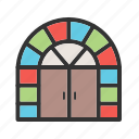 door, doorway, enter, entrance, front, house, wooden icon