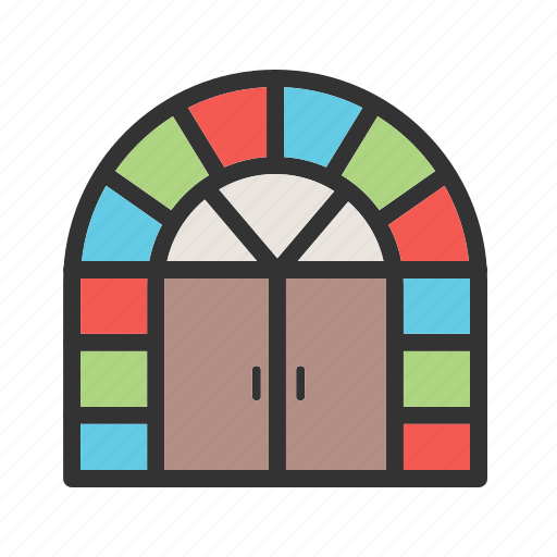door, doorway, enter, entrance, front, house, wooden icon