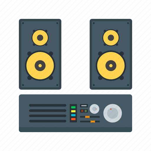 Audio, music, sound, speaker, stereo, system icon - Download on Iconfinder
