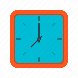 clock, minute, numbers, round, time, timer, wall icon
