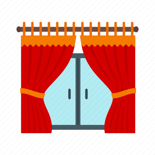 beautiful, curtain, curtains, home, house, interior, window icon