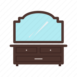 apartment, cosmetics, dressing, home, modern, table icon