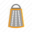 food, grater, kitchen, metal, pattern, slicer icon
