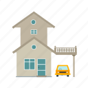 building, car, door, garage, house, open, parking icon