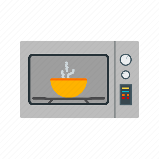 appliance, kitchen, metal, microwave, oven, technology icon