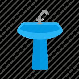 basin, bathroom, clean, kitchen, sink, tap, water icon