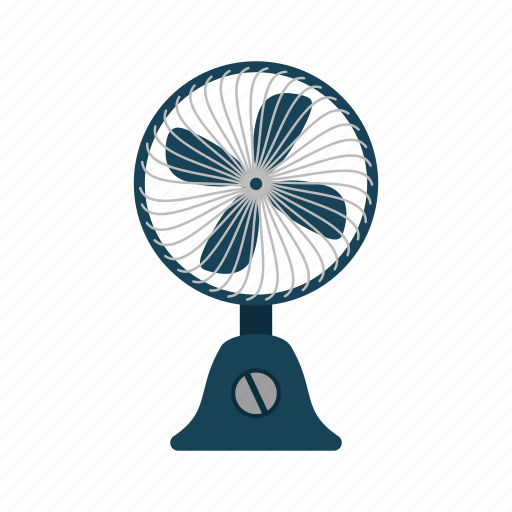 air, electric, fan, plastic, summer, table, wire icon