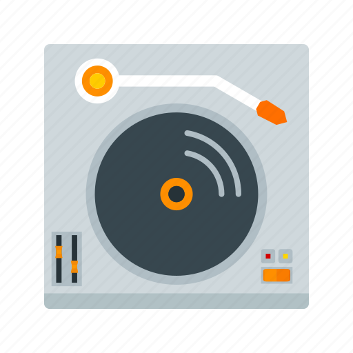 club, gramophone, music, record, sound, technology, turntables icon