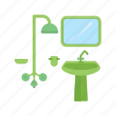 bathroom, house, interior, sink, taps, washroom icon