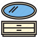 dresser, furniture, house, household, rest icon