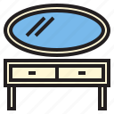 dressing, furniture, house, household, rest, table icon