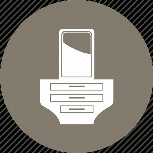 Dresser, dressing table, dressing vanity, furniture, vanity table icon - Download on Iconfinder