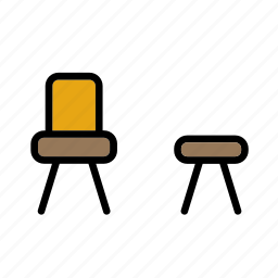 chair, decoration, furniture, piece, seat, stool icon