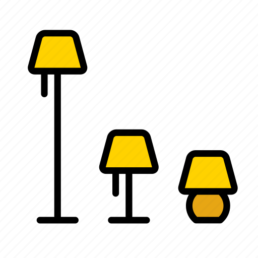 decoration, furniture, home, house, lamp, light, piece icon