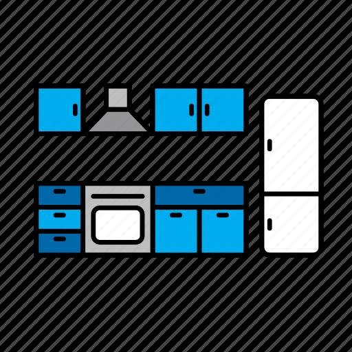 decoration, design, fridge, furniture, interior, kitchen icon