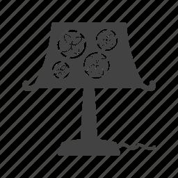desk, lamp, light, modern, night, shade, table icon