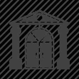 architecture, building, door, doorway, house, traditional icon
