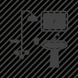 bathroom, house, interior, sink, taps, washroom icon