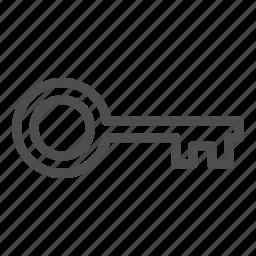 door, house, key, lock icon