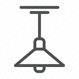kitchen, lamp icon